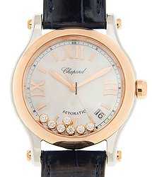 Chopard Happy Sport 18kt Rose Gold & Steel White Automatic 278559-6008
