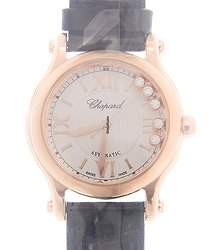 Chopard Happy Sport 18kt Rose Gold White Automatic 274893-5011