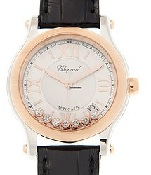 Chopard Happy Sport 18kt Rose Gold White Automatic 278559-6001
