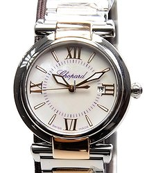 Chopard Imperiale 18kt Rose Gold & Steel White Quartz 388541-6002