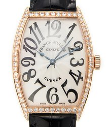 Franck Muller Cintree Curvex 18kt Rose Gold & Diamonds Silver Automatic 5851 M Sc D 1r (5N)