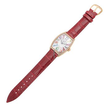 Купить часы Franck Muller Cintree Curvex 18kt Rose Gold & Diamonds White Quartz 2852 Qz Col Drm Mop D 1r (5N)  в ломбарде швейцарских часов