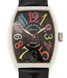 Franck Muller Cintree Curvex Stainless Steel Black Automatic 7851 Sc Col Drm (ac) - BLACK