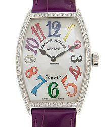 Franck Muller Cintree Curvex Stainless Steel & Diamonds White Quartz 5852 M Qz Col Drm Mop D 1r (AC)