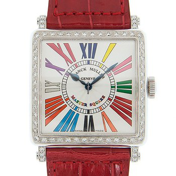 Купить часы Franck Muller Color Dreams Stainless Steel & Diamonds White Quartz 6002 H Qz D 1r Col Drm (AC)  в ломбарде швейцарских часов