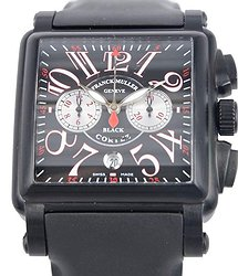 Franck Muller Conquistador Stainless Steel Black Automatic 10000 H Cc Nr BLK