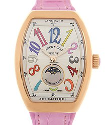 Franck Muller Ladies Collection 18kt Rose Gold White Automatic V 32 Sc At Fo L Col Drm (5N.RS)