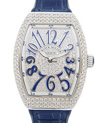 Franck Muller Ladies Collection Stainless Steel & Diamonds Silver Quartz V 32 Qz D Cd (AC.BU)