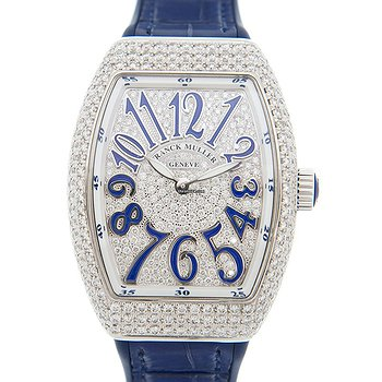 Купить часы Franck Muller Ladies Collection Stainless Steel & Diamonds Silver Quartz V 32 Qz D Cd (AC.BU)  в ломбарде швейцарских часов