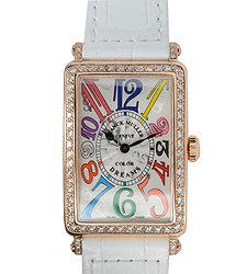 Franck Muller Long Island 18kt Rose Gold & Diamonds Silver Quartz 952 Qz Col Drm D 1r (5N)