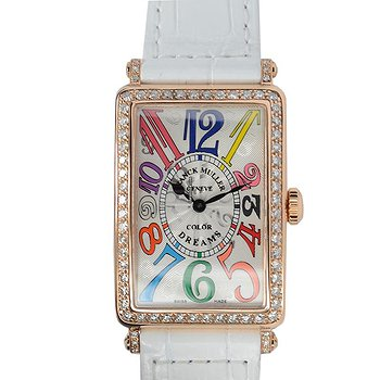 Купить часы Franck Muller Long Island 18kt Rose Gold & Diamonds Silver Quartz 952 Qz Col Drm D 1r (5N)  в ломбарде швейцарских часов