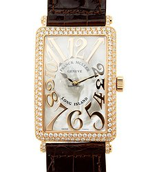 Franck Muller Long Island 18kt Rose Gold & Diamonds White Quartz 1002 Qz Rel Mop D (5N)