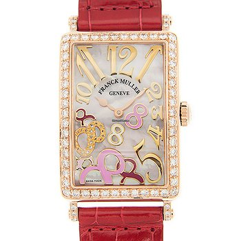 Купить часы Franck Muller Long Island 18kt Rose Gold & Diamonds White Quartz 952 Qz Rel 8cd Mop Rs D 1R(5N)  в ломбарде швейцарских часов
