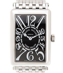 Franck Muller Long Island Stainless Steel Black Quartz 1002 Qz (ac) - BLACK
