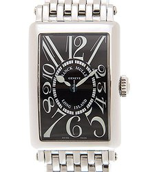 Franck Muller Long Island Stainless Steel Black Quartz 902 Qz (ac) - BLACK