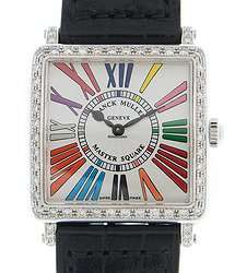 Franck Muller Master Square Stainless Steel & Diamonds White Quartz 6002 L Qz D 1r Col Drm (AC)