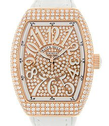 Franck Muller Vanguard 18 K Rose Gold With Diamonds Gold Automatic V 32 Sc At Fo D Cd (5N.BC)