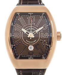 Franck Muller Vanguard 18kt Rose Gold Brown Automatic V 45 Sc Dt (5N.BN)