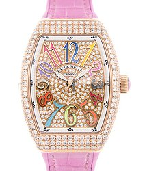 Franck Muller Vanguard 18kt Rose Gold & Diamonds Gold Automatic V 32 Sc At Fo D Cd Col Drm (5N.RS)