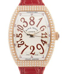 Franck Muller Vanguard 18kt Rose Gold & Diamonds White Automatic V 32 Ch D (5N.RG)