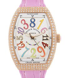 Franck Muller Vanguard 18kt Rose Gold & Diamonds White Automatic V 32 Ch D Col Drm (5N.RS)