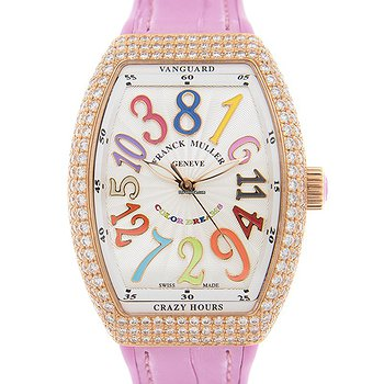 Купить часы Franck Muller Vanguard 18kt Rose Gold & Diamonds White Automatic V 32 Ch D Col Drm (5N.RS)  в ломбарде швейцарских часов