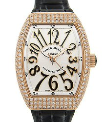 Franck Muller Vanguard 18kt Rose Gold & Diamonds White Automatic V 32 Sc At Fo D (5n.nr) - WHITE