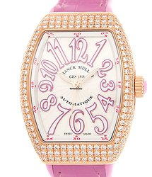 Franck Muller Vanguard 18kt Rose Gold & Diamonds White Automatic V 32 Sc At Fo D (5N.RS)