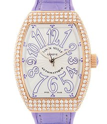 Franck Muller Vanguard 18kt Rose Gold & Diamonds White Automatic V 32 Sc At Fo D (5N.VL)
