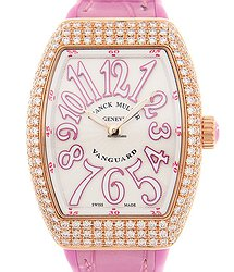 Franck Muller Vanguard 18kt Rose Gold & Diamonds White Quartz V 29 Qz D (5N.RS)