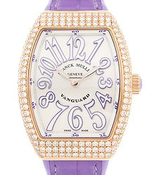 Franck Muller Vanguard 18kt Rose Gold & Diamonds White Quartz V 32 Qz D (5N.VL)