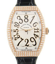 Franck Muller Vanguard 18kt Rose Gold & Steel White Automatic V 32 Ch D (5N.NR)