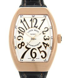 Franck Muller Vanguard 18kt Rose Gold White Automatic V 32 Sc At Fo (5N.NR)