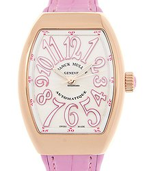 Franck Muller Vanguard 18kt Rose Gold White Automatic V 32 Sc At Fo (5N.RS)