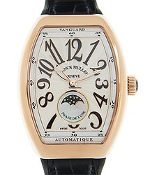 Franck Muller Vanguard 18kt Rose Gold White Automatic V 32 Sc At Fo L (5N.NR)