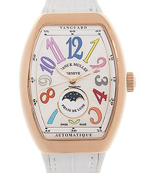 Franck Muller Vanguard 18kt Rose Gold White Automatic V 32 Sc At Fo L Col Drm (5N.BC)