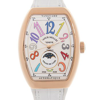 Купить часы Franck Muller Vanguard 18kt Rose Gold White Automatic V 32 Sc At Fo L Col Drm (5N.BC)  в ломбарде швейцарских часов