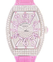 Franck Muller Vanguard 18kt White Gold & Diamond Silver Automatic V 32 Sc At Fo D Cd (OG.RS)