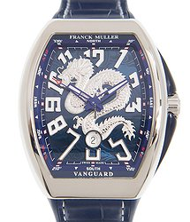 Franck Muller Vanguard Stainless Steel Blue Automatic V 45 Sc Dt Dragon King (AC.BL)