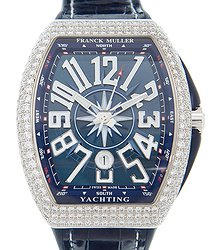 Franck Muller Vanguard Stainless Steel & Diamonds Blue Automatic V 45 Sc Dt D Yachting (AC.BL)
