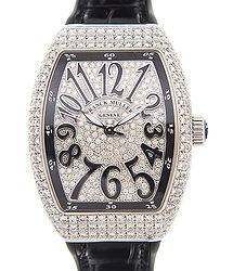 Franck Muller Vanguard Stainless Steel & Diamonds Silver Automatic V 32 Sc At Fo D Cd (AC.NR)