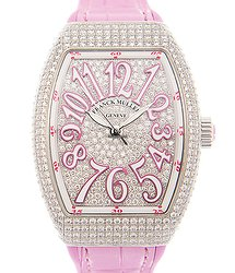 Franck Muller Vanguard Stainless Steel & Diamonds Silver Automatic V 35 Sc At Fo D Cd (AC.RS)