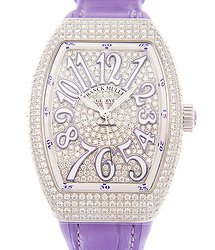 Franck Muller Vanguard Stainless Steel & Diamonds Silver Automatic V 35 Sc At Fo D Cd (AC.VL)