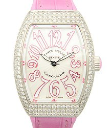 Franck Muller Vanguard Stainless Steel & Diamonds Silver Quartz V 32 Qz D (AC.RS)