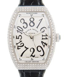 Franck Muller Vanguard Stainless Steel & Diamonds White Automatic V 32 Ch D (AC.NR)