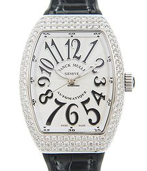 Franck Muller Vanguard Stainless Steel & Diamonds White Automatic V 32 Sc At Fo D (AC.NR)-WHITE