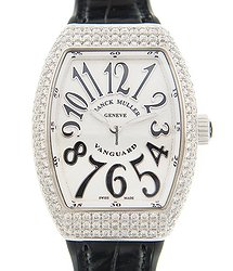 Franck Muller Vanguard Stainless Steel & Diamonds White Quartz V 32 Qz D (AC.NR)