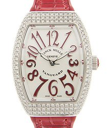 Franck Muller Vanguard Stainless Steel & Diamonds White Quartz V 32 Qz D (AC.RG)