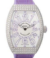 Franck Muller Vanguard Stainless Steel & Diamonds White Quartz V 32 Qz D (AC.VL)