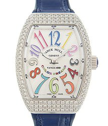 Franck Muller Vanguard Stainless Steel & Diamonds White Quartz V 32 Qz D Col Drm (AC.BU)